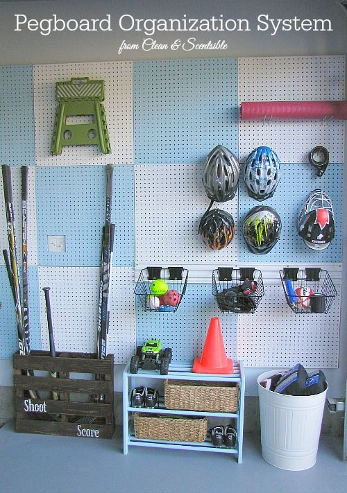9 Clever Sports Equipment Storage Solutions | Pegboard Organization, Garage  And Organizations