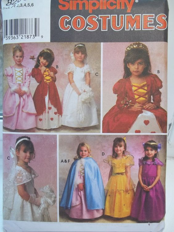 Girl's  Princess Costume Simplicity 8280 Queen of by WitsEndDesign