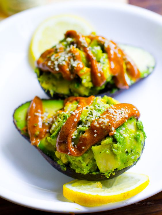 Curry Sauce Topped Deviled Avocado