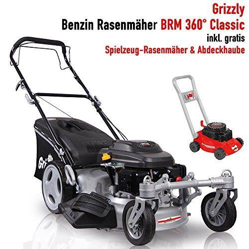 Grizzly Benzin Rasenmaher 4 Takt Motor Robustes Stahlgehause 360 Grad Bewegliche Vorderrader Zentr Outdoor Power Equipment Riding Lawnmower Push Lawnmower