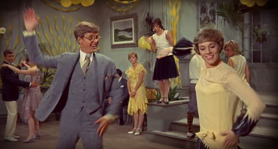 "James Fox and Julie Andrews doing ""The Tapicoa"" in ""Thoroughly Modern Millie."""