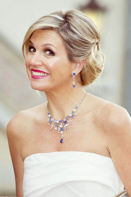 Queen Maxima of the Netherlands. I just like how cute she looks here.