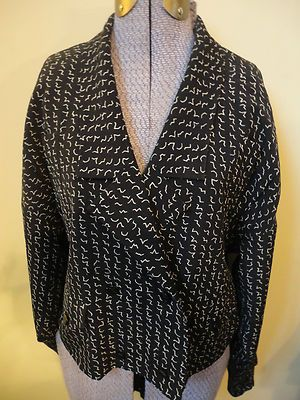 Amazing Karl Lagerfeld France Vintage 1980's Modern Black Wool Print Blazer 38/6 $39.99  http://cgi.ebay.com/ws/eBayISAPI.dll?ViewItem=300826568835=STRK:MESE:IT