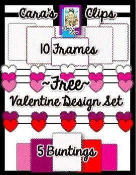 Clip Art~ Valentine Design Set Freebie!