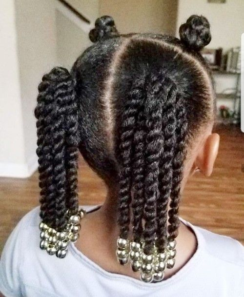 Black Kids Hairstyles With Beads Natural Hairstyles For Kids