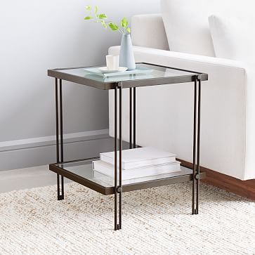 Fulton Side Table Modern Side Table Glass Side Tables Home Decor
