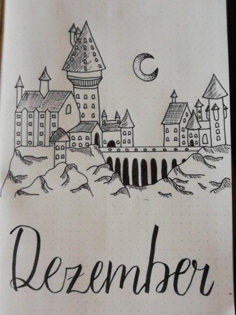 December Cover Page Zeichnungen Einfach Harry Potter Journal Zeichnungen