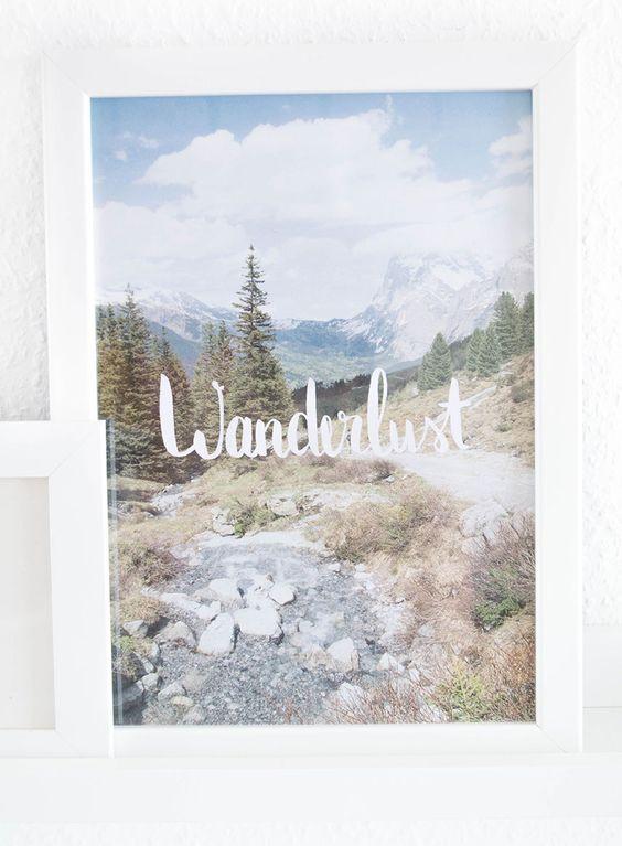 Kleiner DIY Briefständer mit Bergen und ein