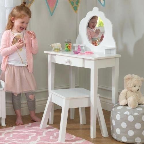 Girls Vanity Table And Stool Childrens Dressing Tables With Mirror