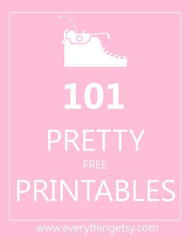 Printables - 101 Pretty {free} Printables - EverythingEtsy.com