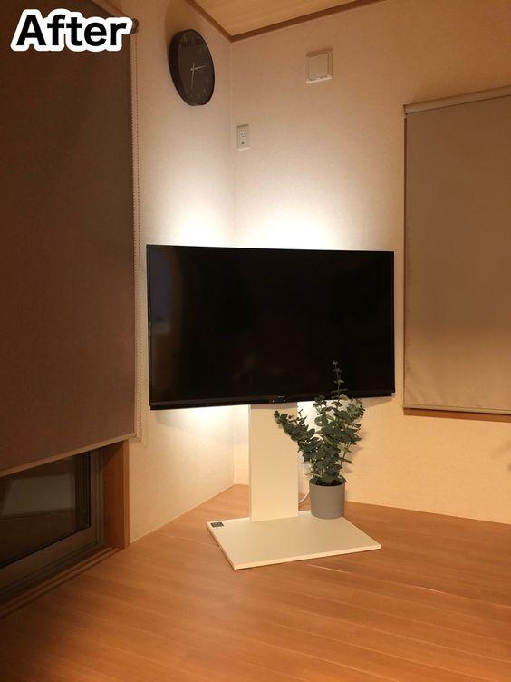 テレビスタンド 間接照明 アイデア コーディネート例 イメージ おしゃれ