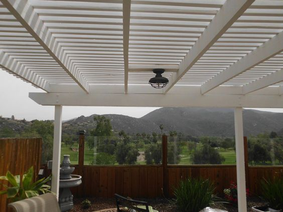 Back patio, view