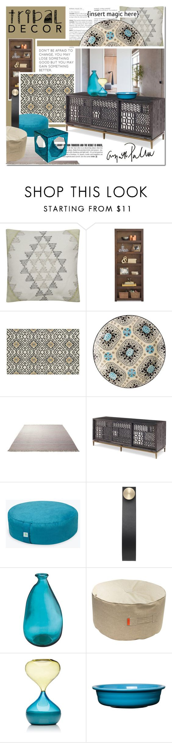 """Tribal magic"" by undici ❤ liked on Polyvore featuring interior, interiors, interior design, home, home decor, interior decorating, Kaleen, ESPRIT, By Lassen and Venini"