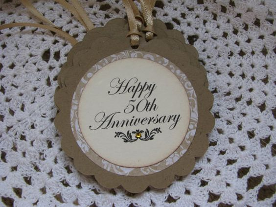 anniversary tags anniversary party ideas papercrafts favors happy 50th ...