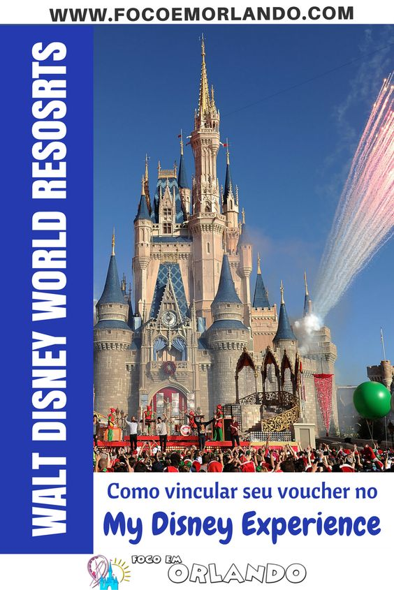 Como vincular seu voucher do Walt Disney World Resort pelo site