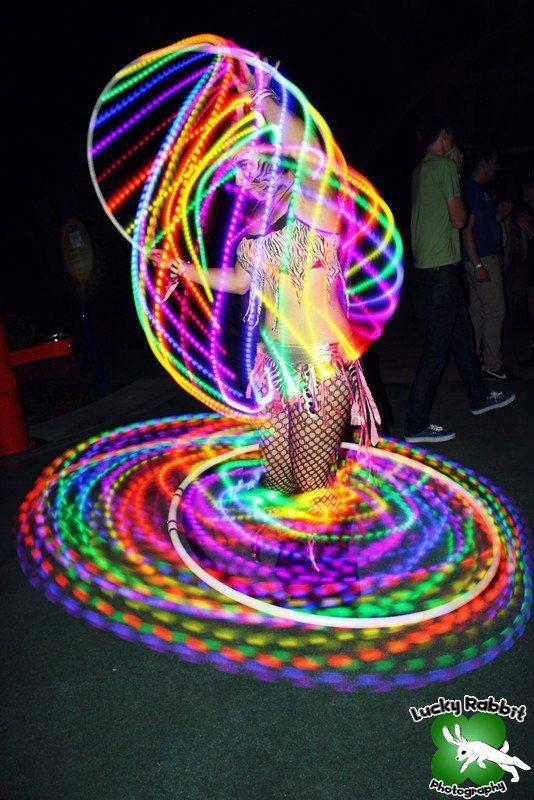 """Moodhoops Neon LED Hula Hoop  peaceloveunityhooping:    Please """"like"""" my FB Fan Page:  http://www.facebook.com/HoopKitten"""
