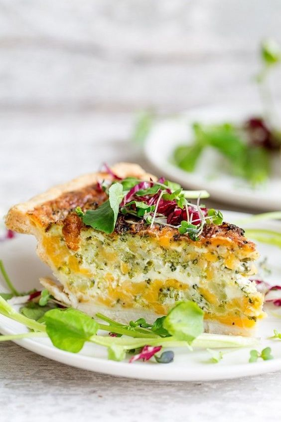 Broccoli and Cheddar Quiche | Bakers Royale