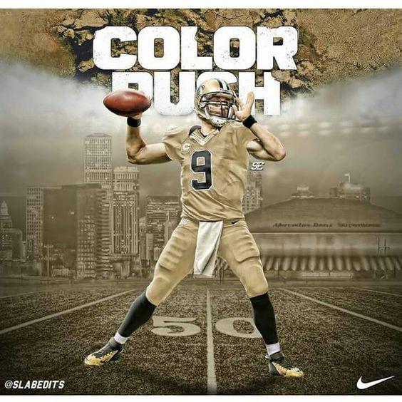 New Orleans Saints color rush uniforms for 2016. #WhoDat #WhoDatNation #Saints…