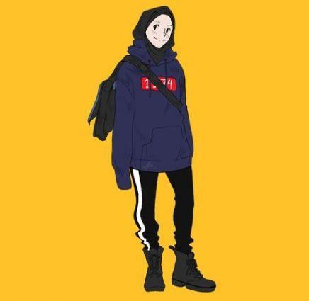 47 Ideas Fashion Girl Style Tomboys Girl Cartoon Girl Drawing Hijab Cartoon Cool tomboy hijab anime wallpaper