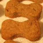 homemade peanut butter dog treats! i just made some and it's super easy, my dogs love them