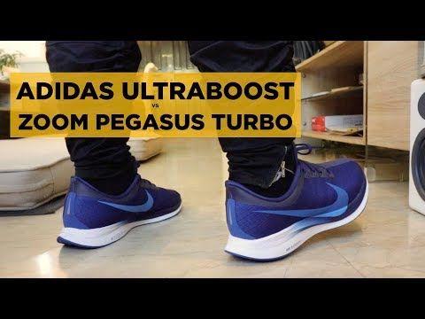 ADIDAS ULTRABOOST vs NIKE ZOOM PEGASUS TURBO YouTube in