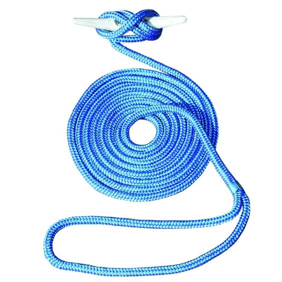 25 Ft 1 2 In Hand Spliced Double Braid Blue Dock Line Double Braid Best Home Gym Equipment Things To Sell