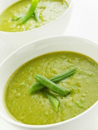 Soupe marinette aux haricots verts - Recette de cuisine Marmiton : une recette