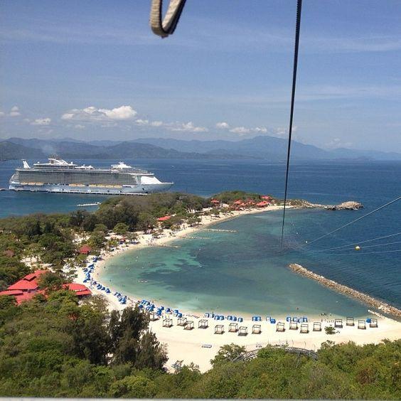 Definitely look down. #labadee #caribbean