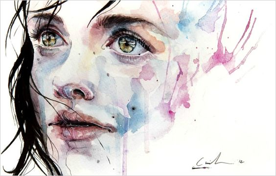 A Stunning Watercolor Speed Painting by Agnes Cecile
