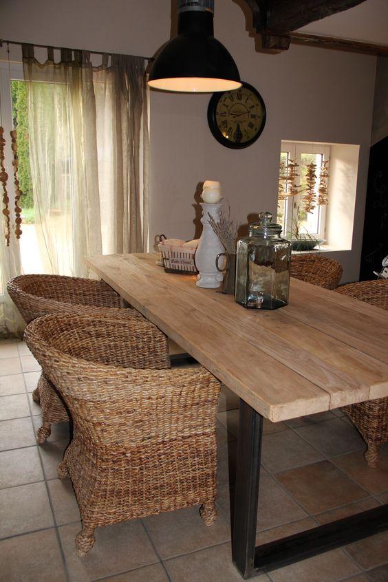 Souvent Table bois et métal pour salle à manger style campagne chic  OI87