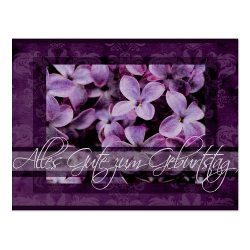 Happy Birthday In German Lilac Blossoms Postcard Zazzle Com With Images Happy Birthday In German