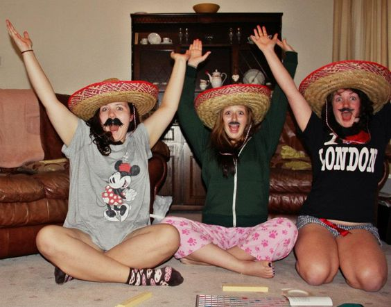 Played dirty scrabble in the middle of the night wearing fake mustaches and sombreros while eating cheerios :') #Normal