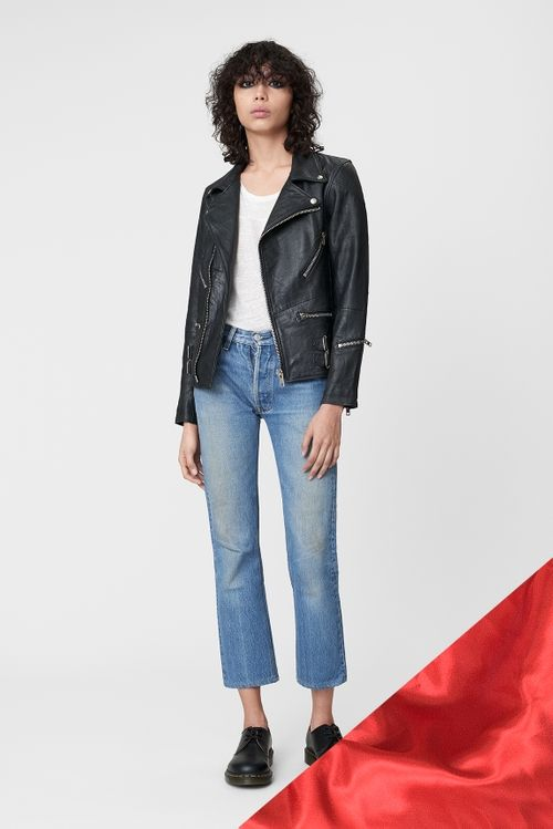 Vinnie Jacket Deadwood | Womens biker jacket, Edgy leather