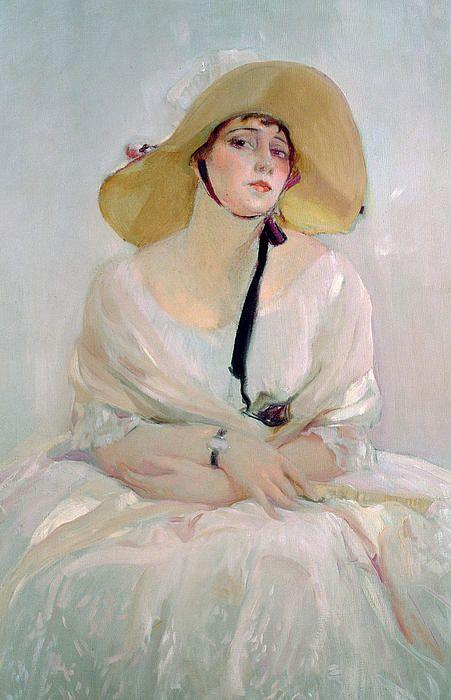 Portrait of Raquel Meller - Joaquin Sorolla y Bastida (Spanish, 1863-1923):