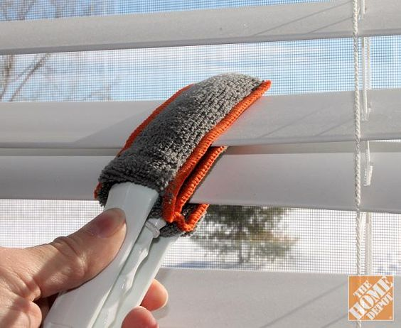 Speed up your spring cleaning with a few nifty tools! Try a mini blind duster and clean three blinds at a time!