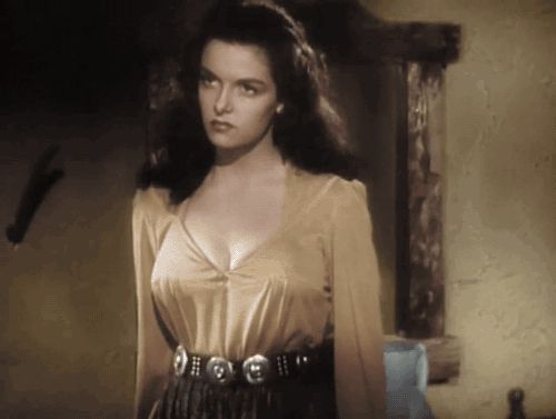 """gameraboy: """" Jane Russell in The Outlaw (1943) """""""