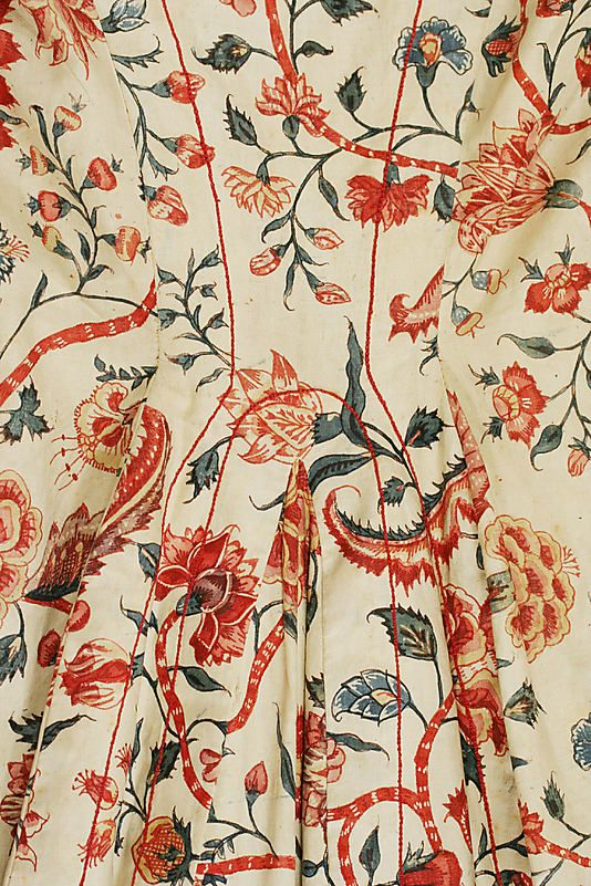 Chintz (in Dutch: sits) - Detail of 'wentke' (Hindeloopen costume) #Friesland #Hindeloopen: