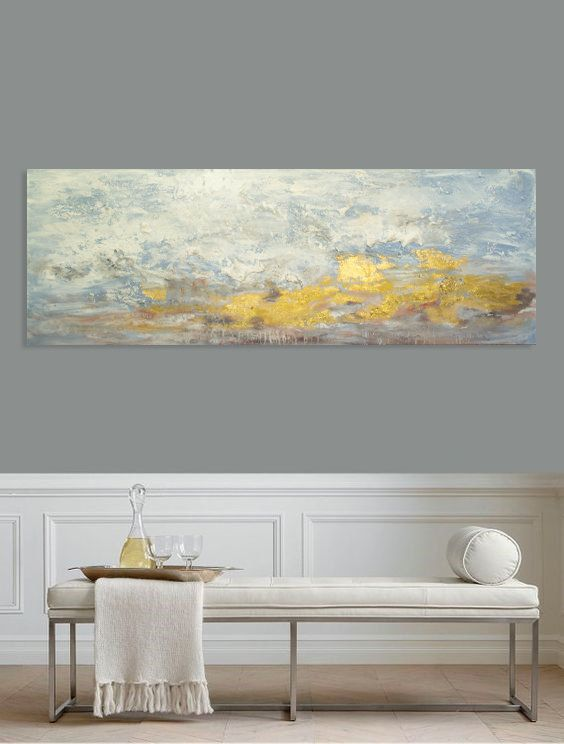 Above Bed Art Above Couch Art Narrow Wall Art Long Horizontal Etsy Horizontal Wall Art Horizontal Painting Large Wall Art