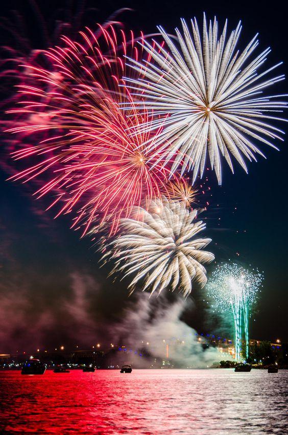 Fireworks, Canada Day celebrations in Sarnia, Ontario