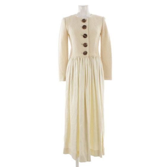 Rustikales Kleid von Mothwurf in Beige Gr. 38