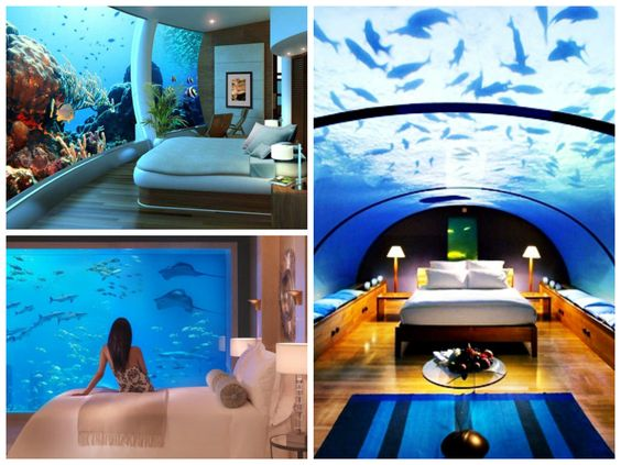 Un resort 5 estrellas en las paradisíacas Islas Fiji, pero con un toque de originalidad… ¿A que nunca has pasado la noche debajo del mar? Pues el Hotel Poseidon te ofrece unas vistas de lo más inimitables, ahí las tienes…