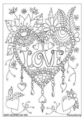 Free Pages Valentines Day Coloring Page Love Coloring Pages Mandala Coloring Pages