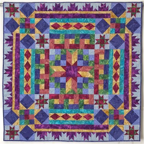 BLOCK BUFFET Mystery Quilt by Linda J. Hahn  This is gorgeous!  The color combinations couldn't be more appealing!!!