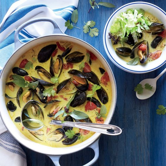 Curried Mussel Soup with Lime Slaw - Our Favorite Recipes of 2015 - Coastal Living