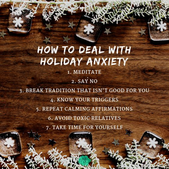 The holiday season can be stressful. Practicing self care and following these ways to deal with holiday anxiety and to deal with holiday stress and even holiday depression can make a significant difference.