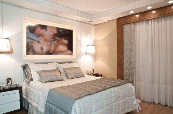 Painel para tv quarto casal pequeno pesquisa google for Quadros dormitorio