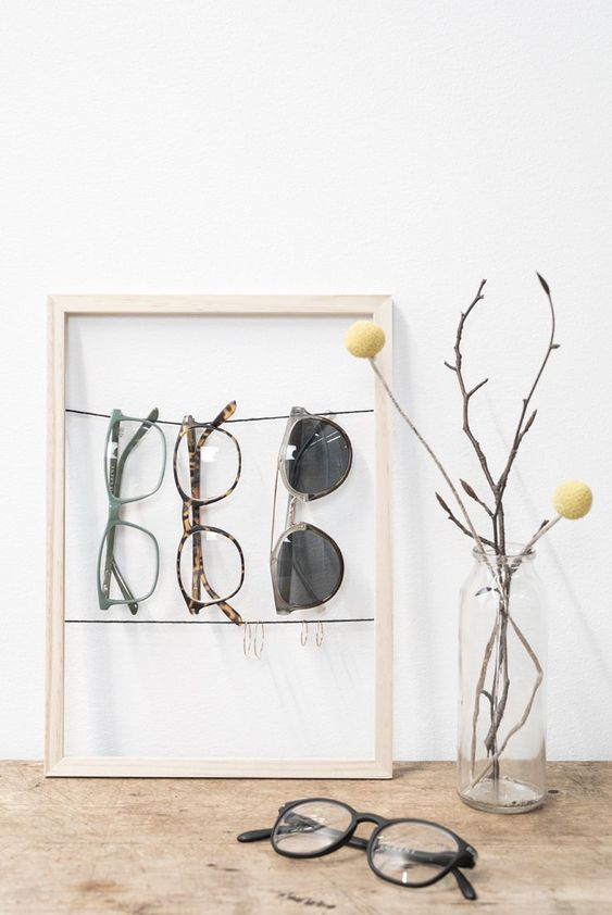 DIY organizer : Make a picture frame organizer for your sunglasses by Søstrene Grene
