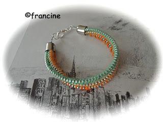"""FRANCINE BRICOLE : Le bracelet """"fermeture-éclair"""" à trois rangs enrou..."""