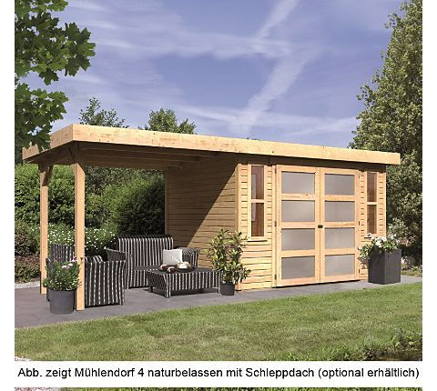 Karibu Gartenhaus Mühlendorf 4, naturbelassen | GartenXXL.de