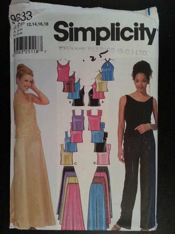 Simplicity 9833 Misses Evening Pants Skirt by Noahslady4Patterns